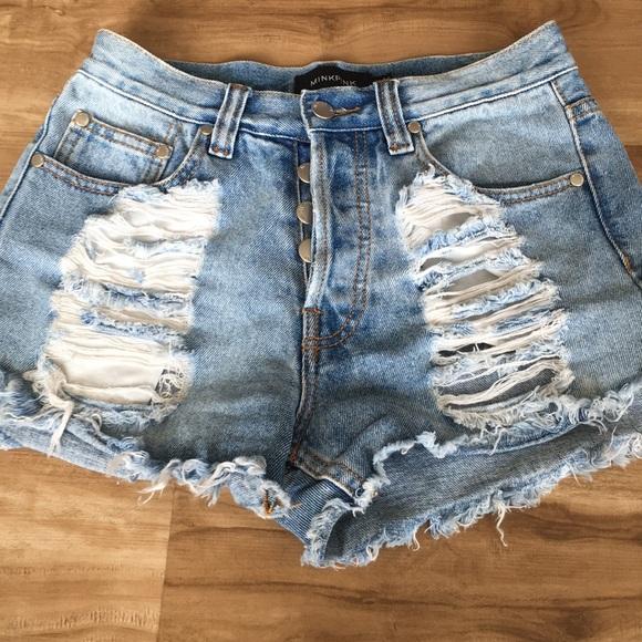 MINKPINK Pants - Minkpink Jean shorts